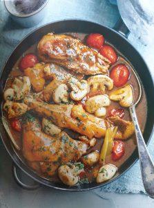 Cocotte de poulet à l'estragon
