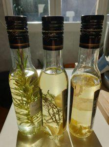 Les huiles aromatiques faites maison